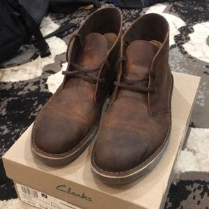 Clark's Bushacre 2 dark brown leather boots